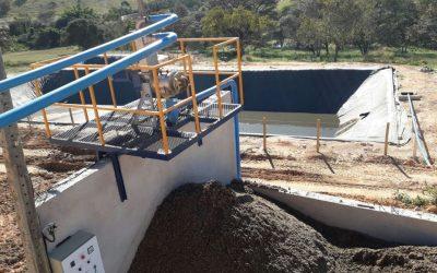 Mapa conclui obra de tratamento de dejetos para cliente em Pará de Minas